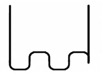 Скобы  для ремонта пластиковых деталей 0,8мм (100шт) WDK-620120-4