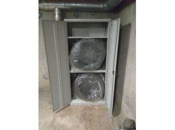 Металлический шкаф для хранения колёс в паркинге или гараже