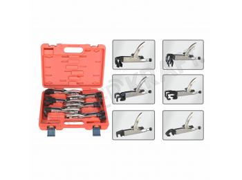 Набор сварочных зажимов с фиксаторами в пластиковом кейсе WDK-65612