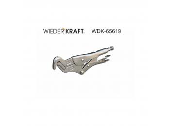 Зажим с изогнутым захватом регулируемый с фиксатором WDK-65619