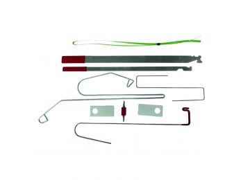 Набор пластин, крюков и захватов для отпирания (вскрытия) автомобилей универсальный WDK-65263